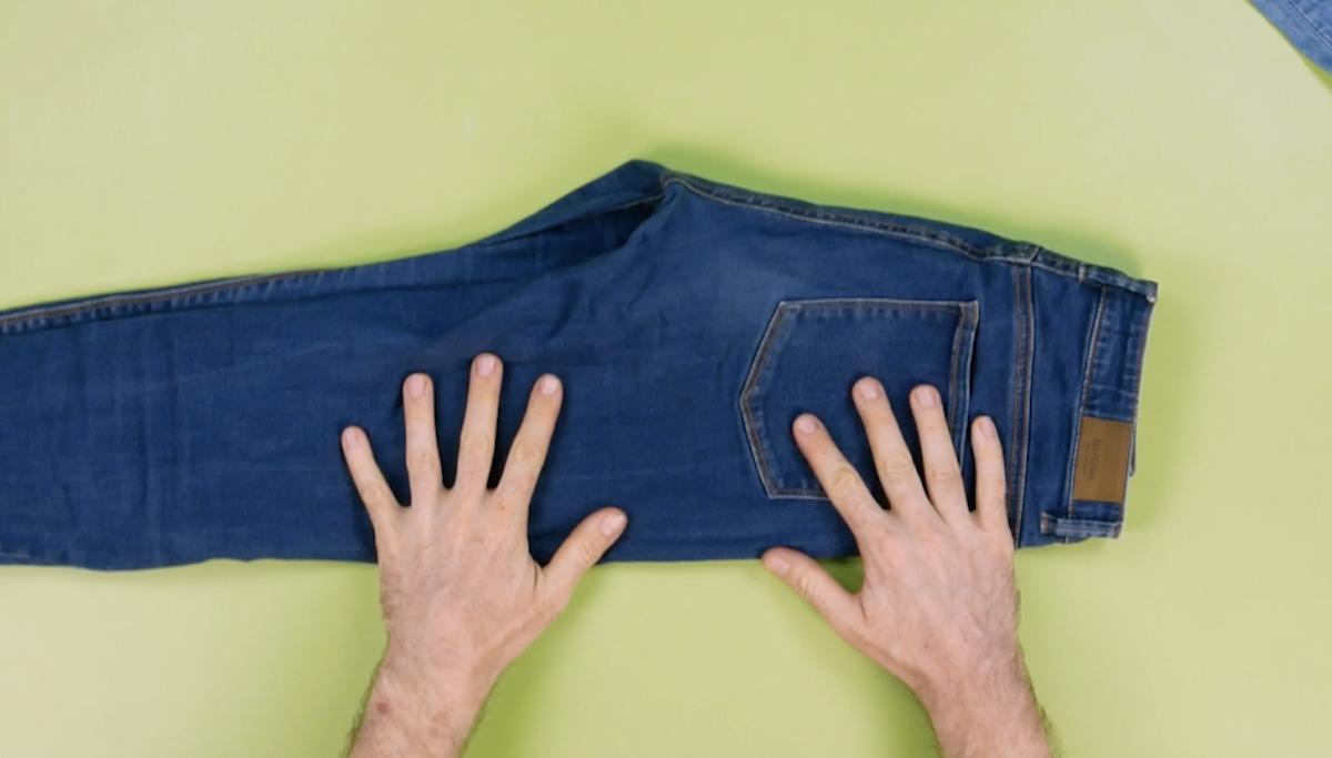 plier le jean