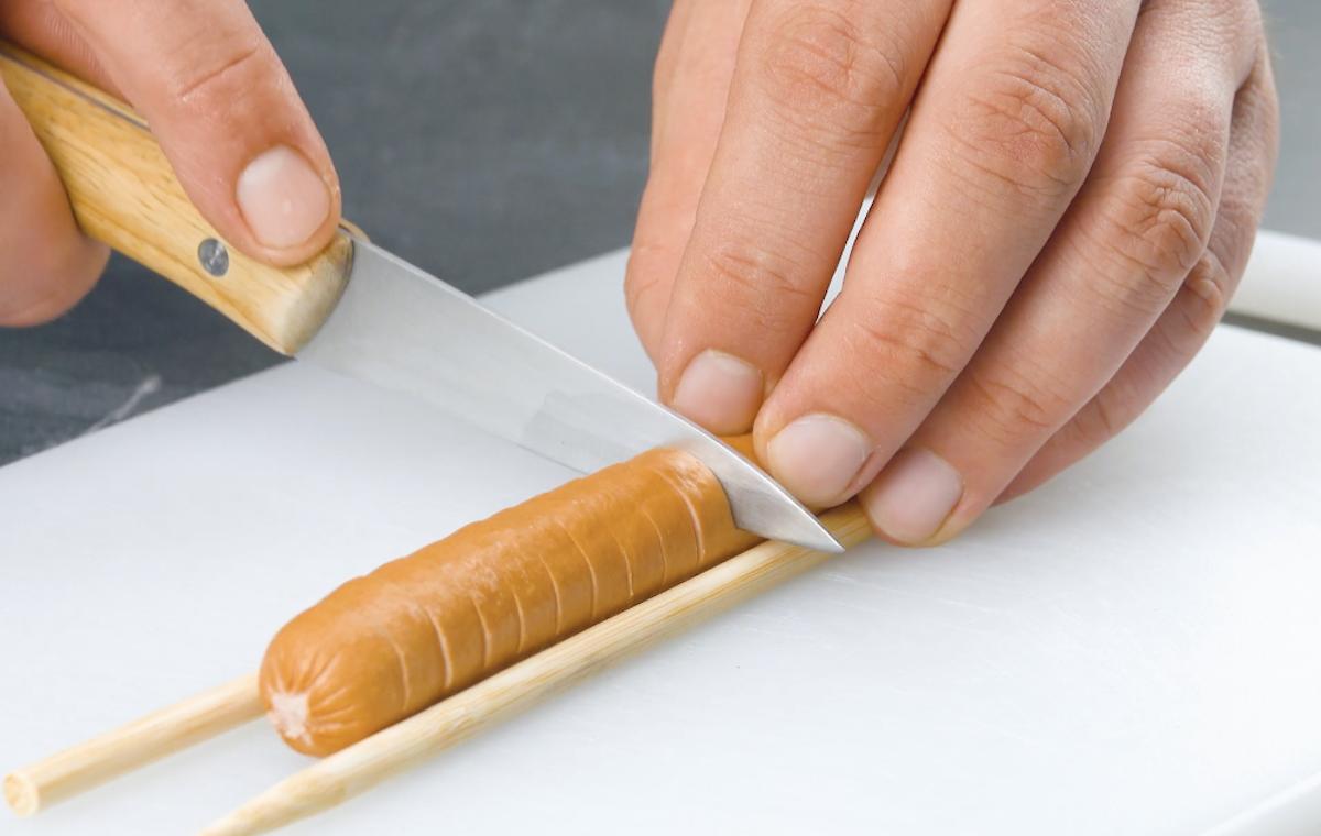couper les saucisses