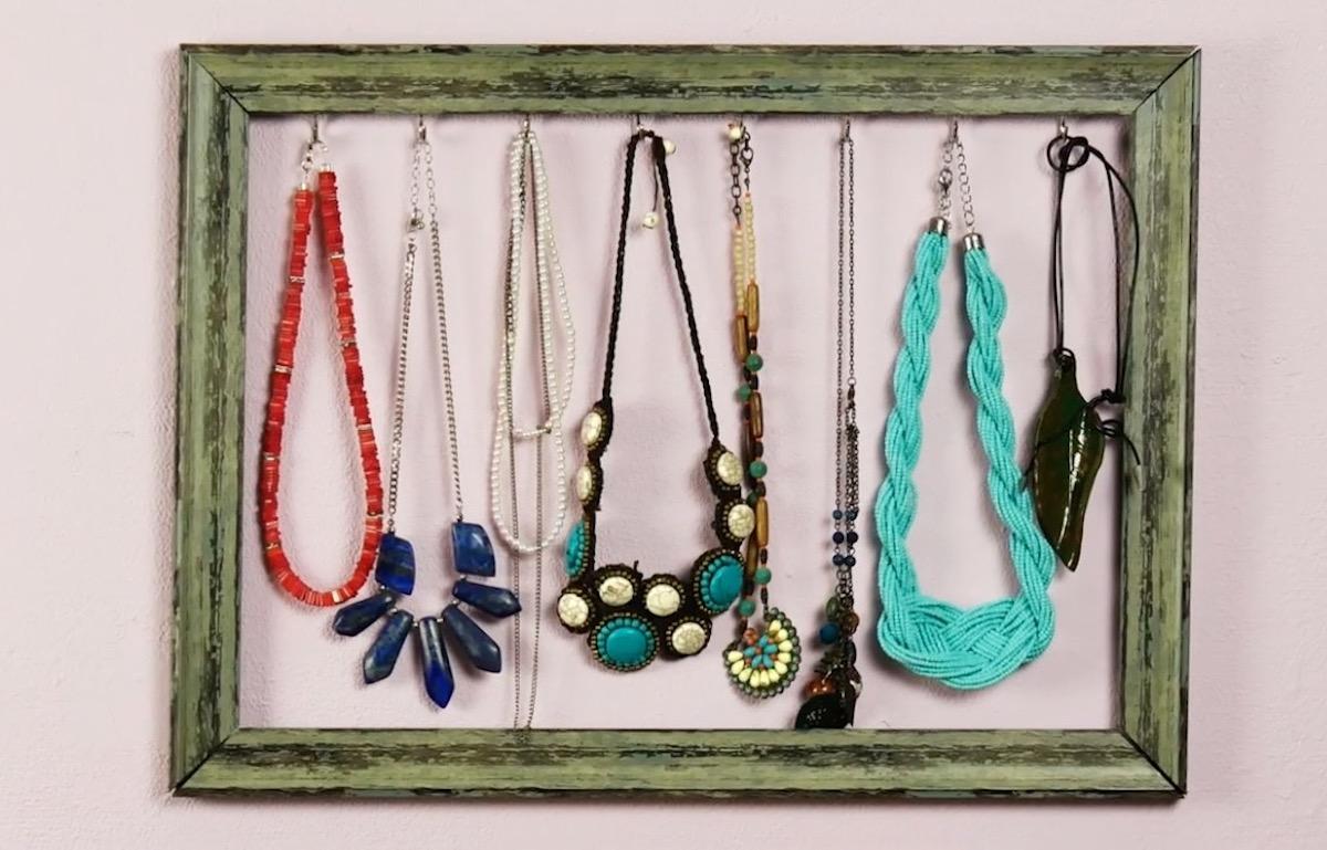 Porte-bijoux à partir d'un cadre photo