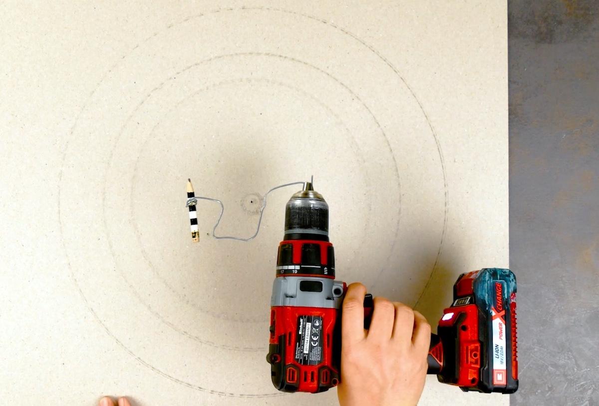 tracer un cercle avec une perceuse