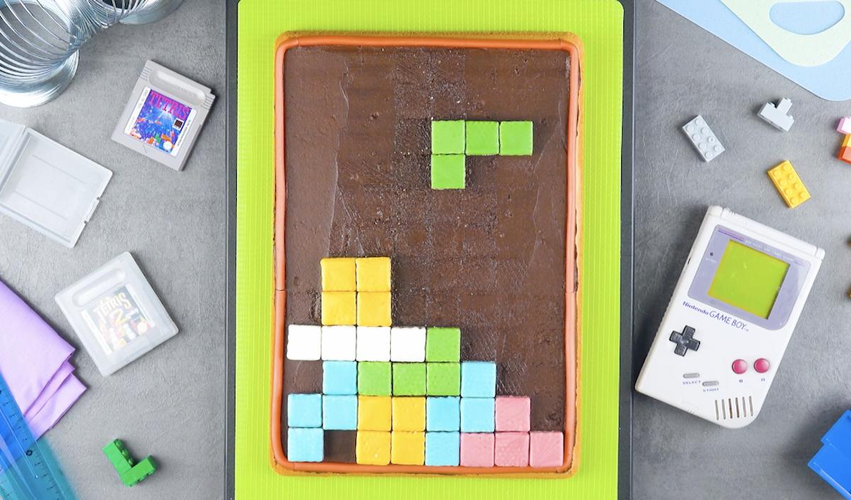 Gâteau Tetris