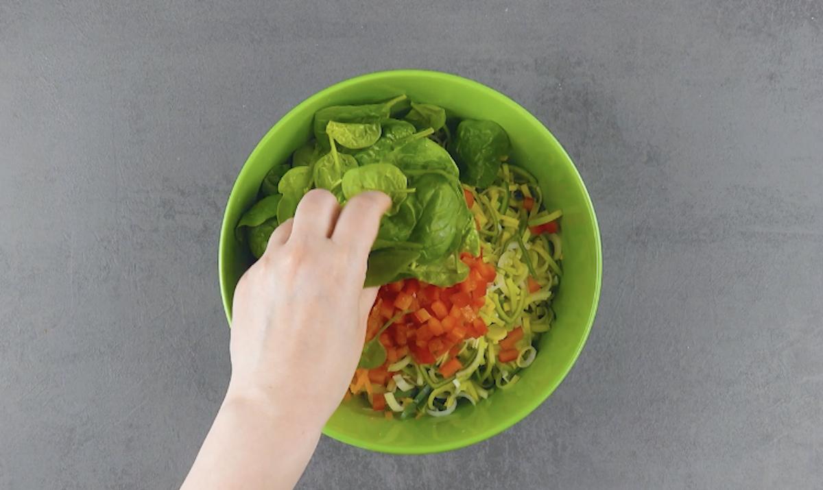mélanger les légumes