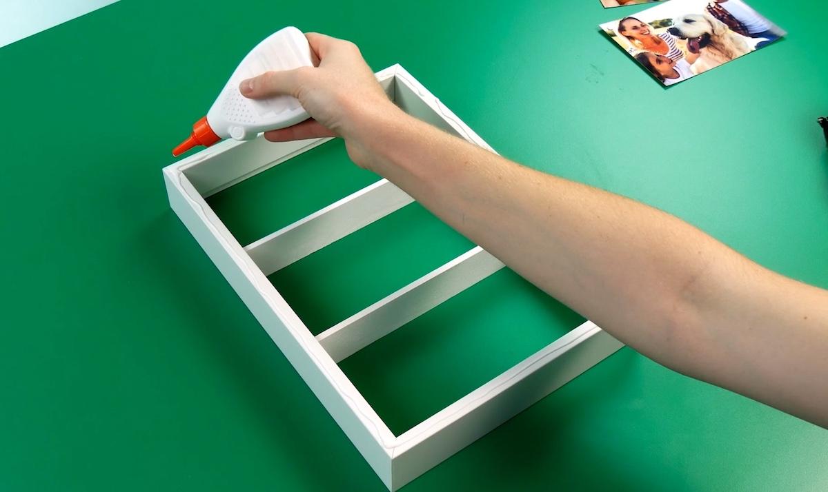 collet des planches sur un cadre
