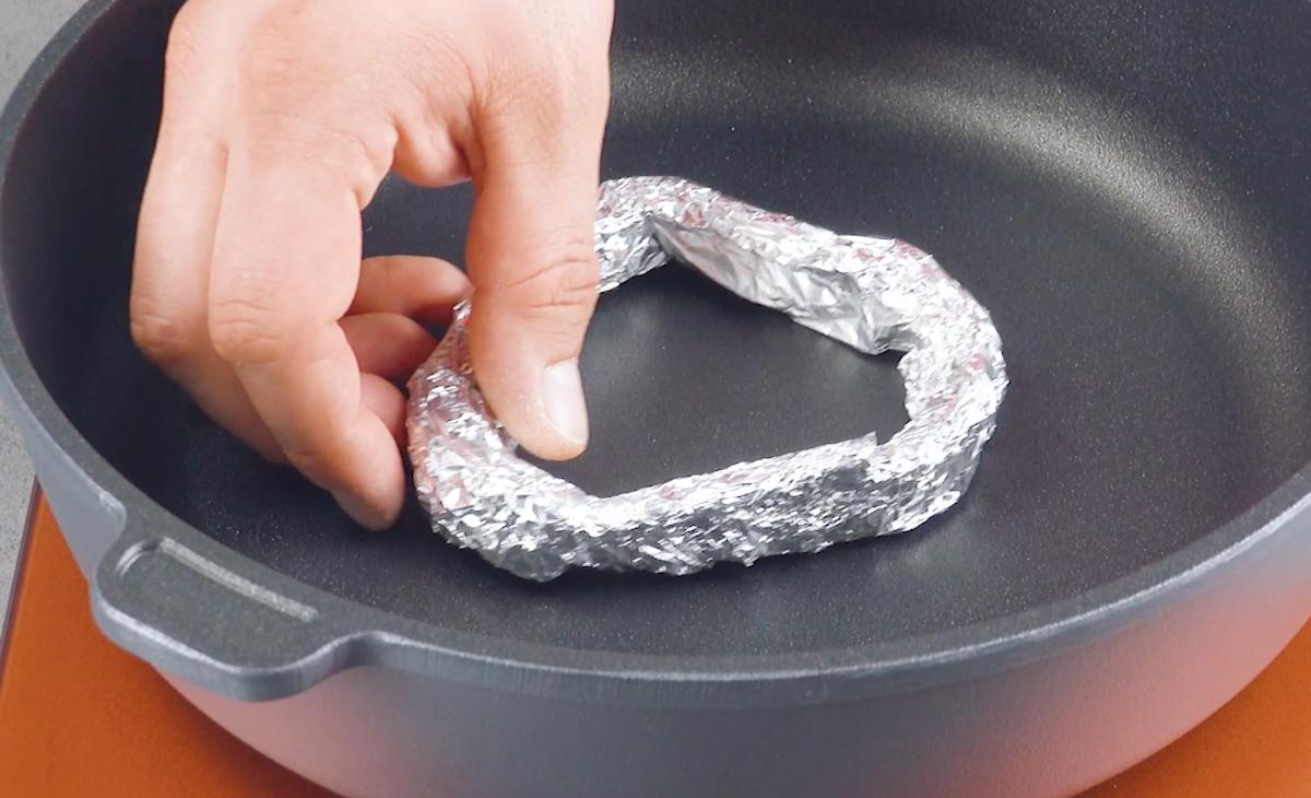 faire un cercle en papier aluminium