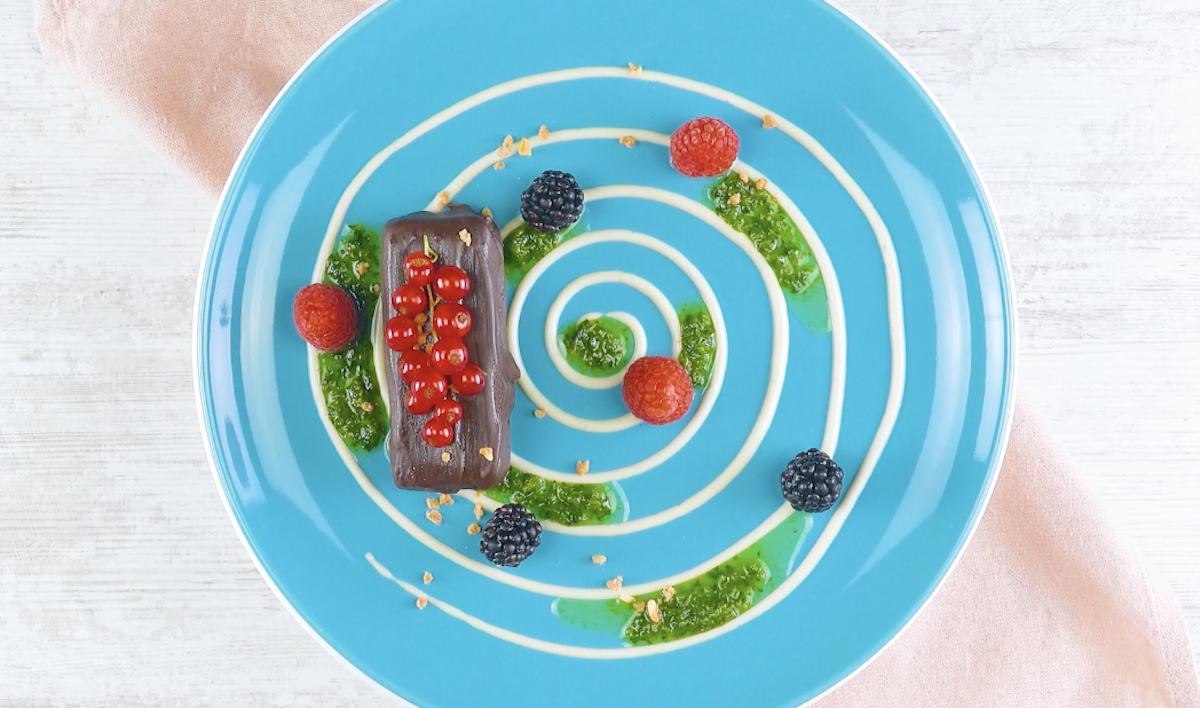 spirale dans l'assiette