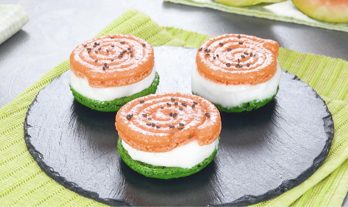 sandwichs glacés en forme de pastèque