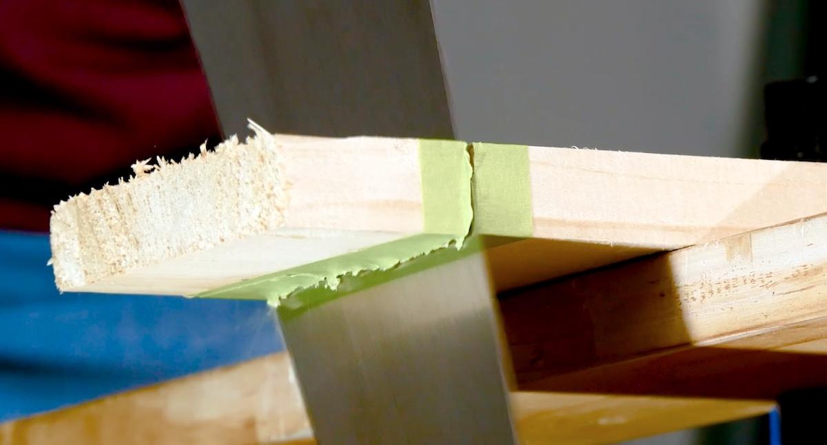 scier le bois proprement