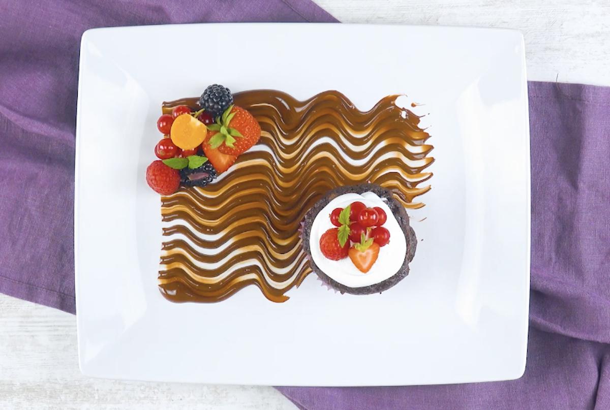 déco vagues de chocolat