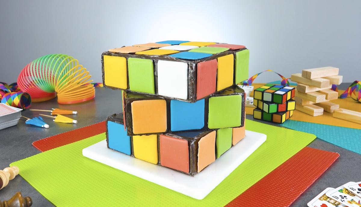 gâteau Rubik's Cube